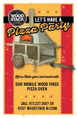 Mobile Pizza Oven Wood Stack