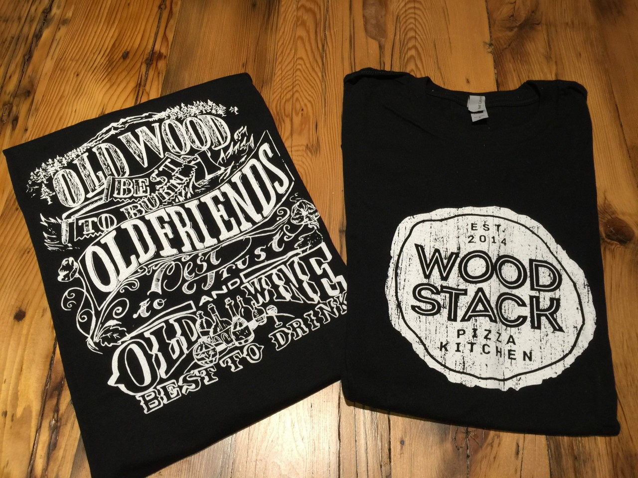 T-shirts & Hats Wood Stack