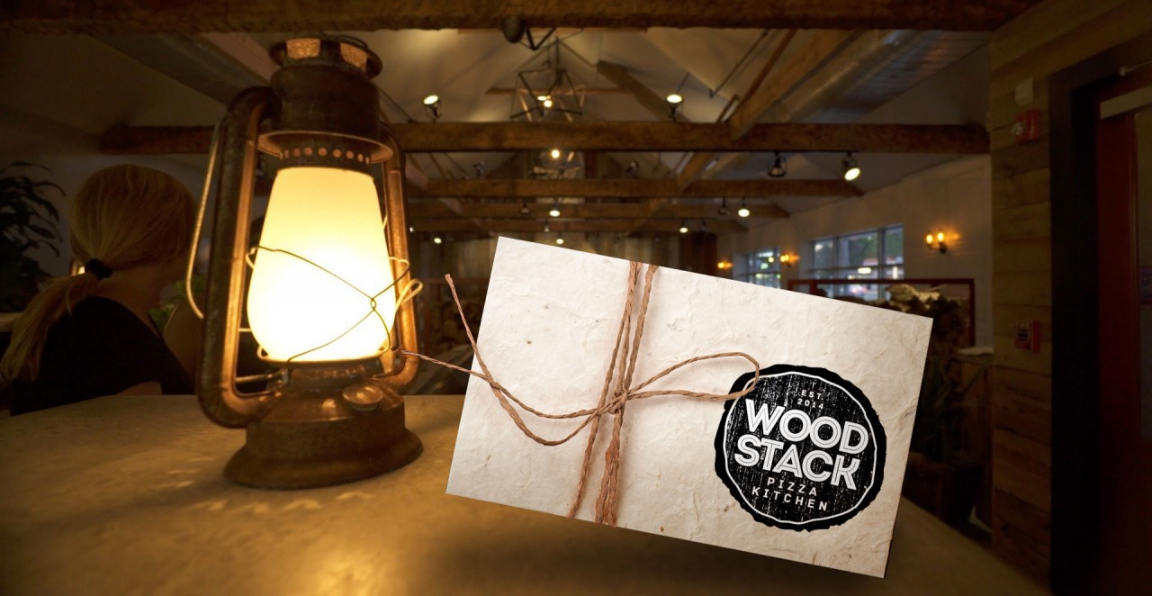 Gift Cards Wood Stack